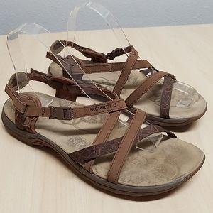 Teva brown sandals ankle comfort pad 3 way adj 9